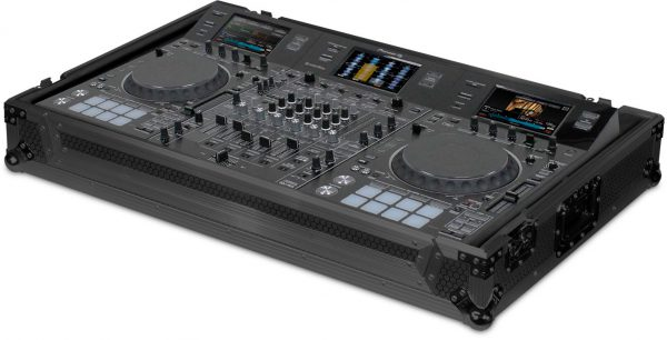 U91036BL2 - UDG ULTIMATE FLIGHT CASE PIONEER DDJ-RZX BLACK MK2 PLUS (WHEELS)