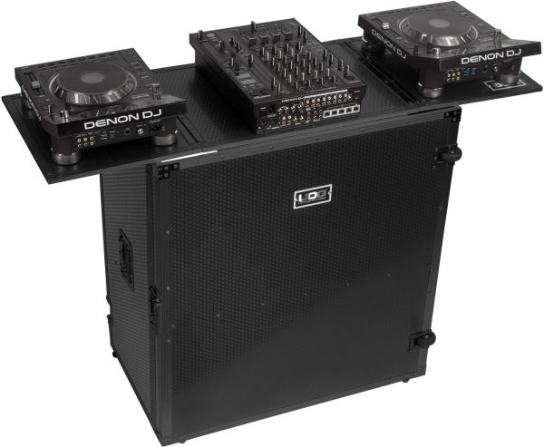 U91049BL - UDG ULTIMATE FOLD OUT DJ TABLE BLACK PLUS (WHEELS)