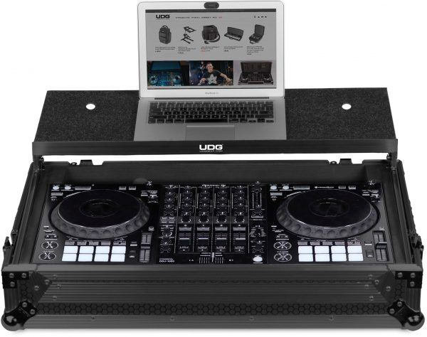 U91055BL - UDG ULTIMATE FLIGHT CASE PIONEER DDJ-1000 BLACK PLUS (LAPTOP SHELF + WHEELS)