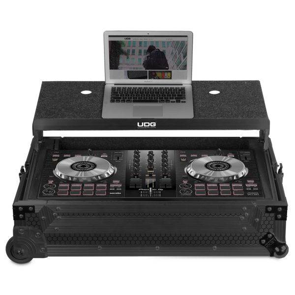 U91059BL - UDG ULTIMATE FLIGHT CASE MULTI FORMAT XL BLACK PLUS (LAPTOP SHELF