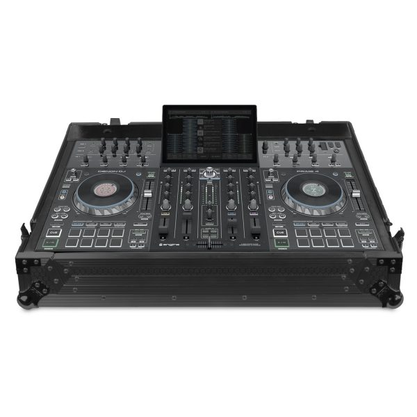 U91069BL - ULTÍMATE FLIGHT CASE DENON DJ PRIME 4 BLACK PLUS (W)